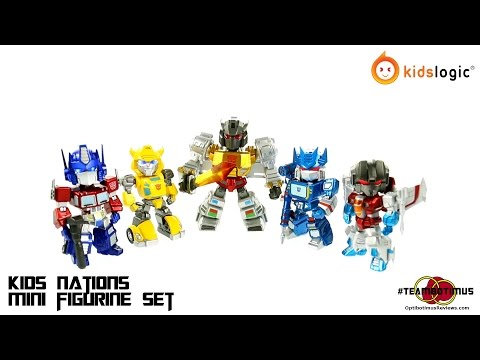 Video Review of the Kids Logic; Kids Nation Transformers Mini Figures
