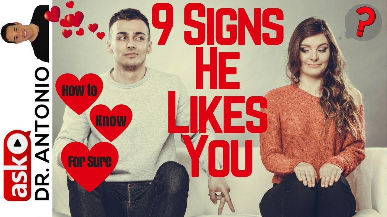 flirting signs he likes you will love video full
