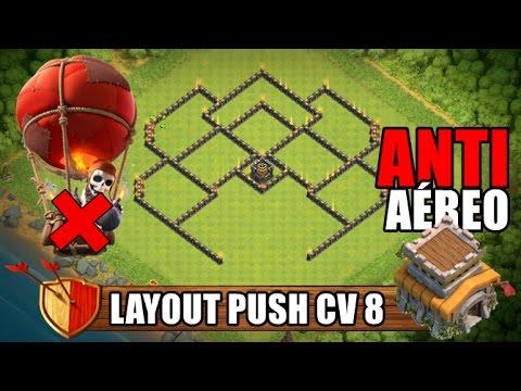 Layout Push CV8 - Top Layout ATUALIZADO - Clash Of Clans 2017