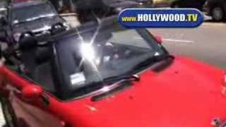 Lily Allen Smoking In Her Car