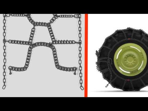 TRYGG Fast Trac tire chains installation