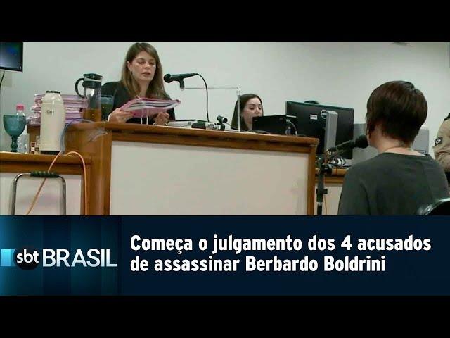 Começa o julgamento dos 4 acusados de assassinar o menino Berbardo Boldrini | SBT Brasil (11/03/19)