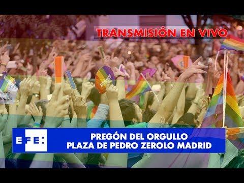 Pregón dia del Orgullo Gay en Plaza Zerolo.