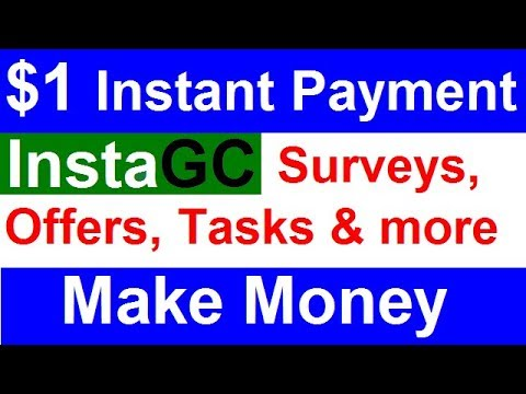 InstaGC: Make Money By Completing Surveys, Offers and Tasks | $1 Instant  Payment [Hindi]