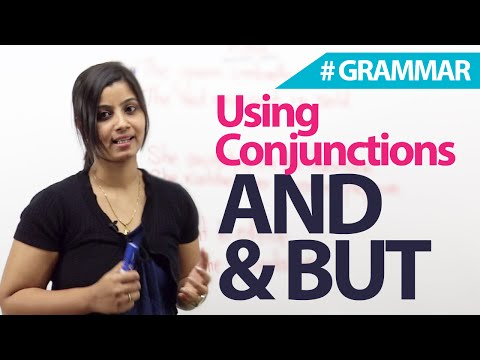 Using Conjunctions - And & But - English Grammar lesson