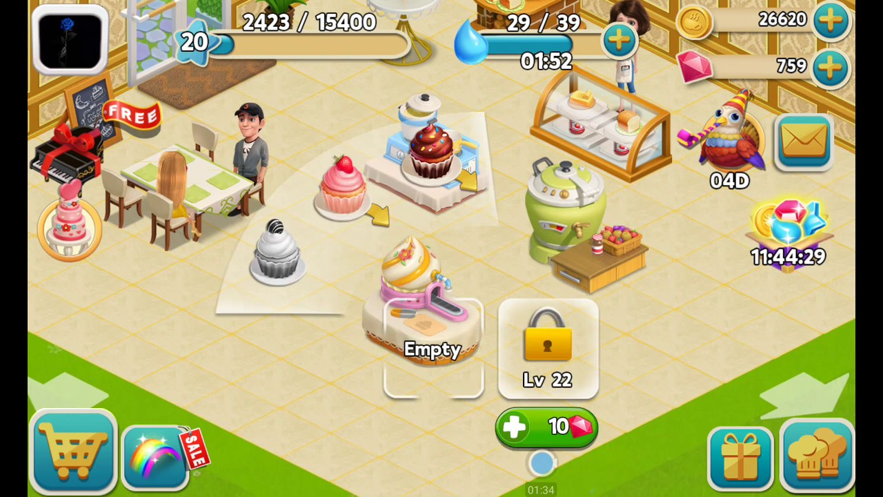 cafe story game