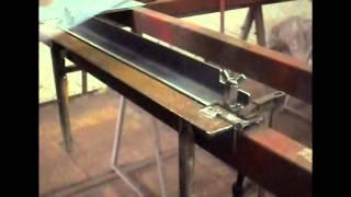 видео самодельный листогиб ручной