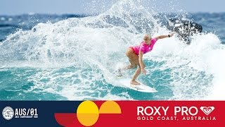Tatiana Weston-Webb Finds Her Groove in Round One - Roxy Pro Gold Coast 2017