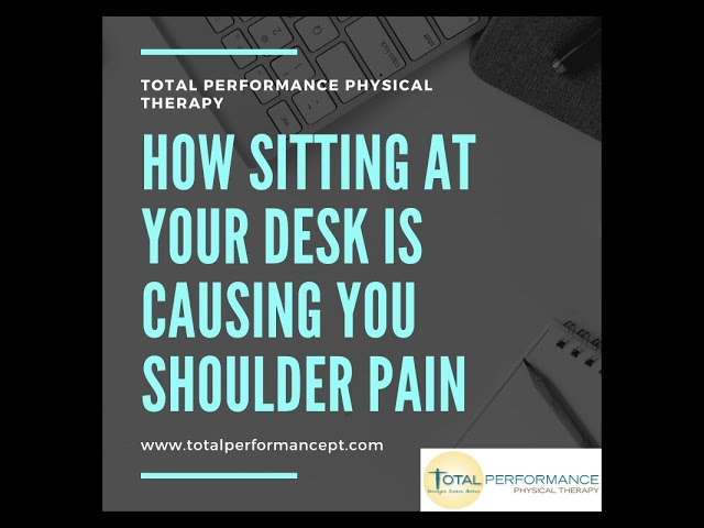 How to eliminate shoulder pain being caused by sitting at your desk