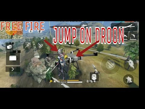 Jump on droon (Free fire game play) for glider