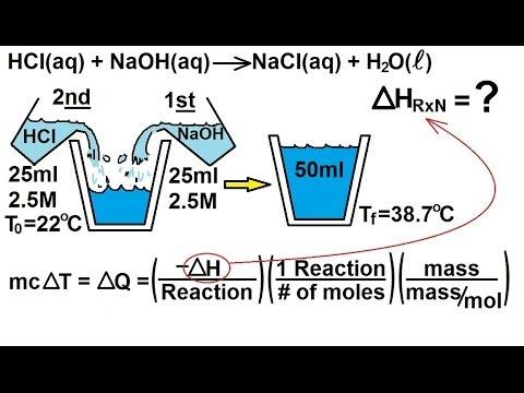 Chemistry - Thermochemistry (31 of 37) Constant Pressure Calorimeter: Ex  2