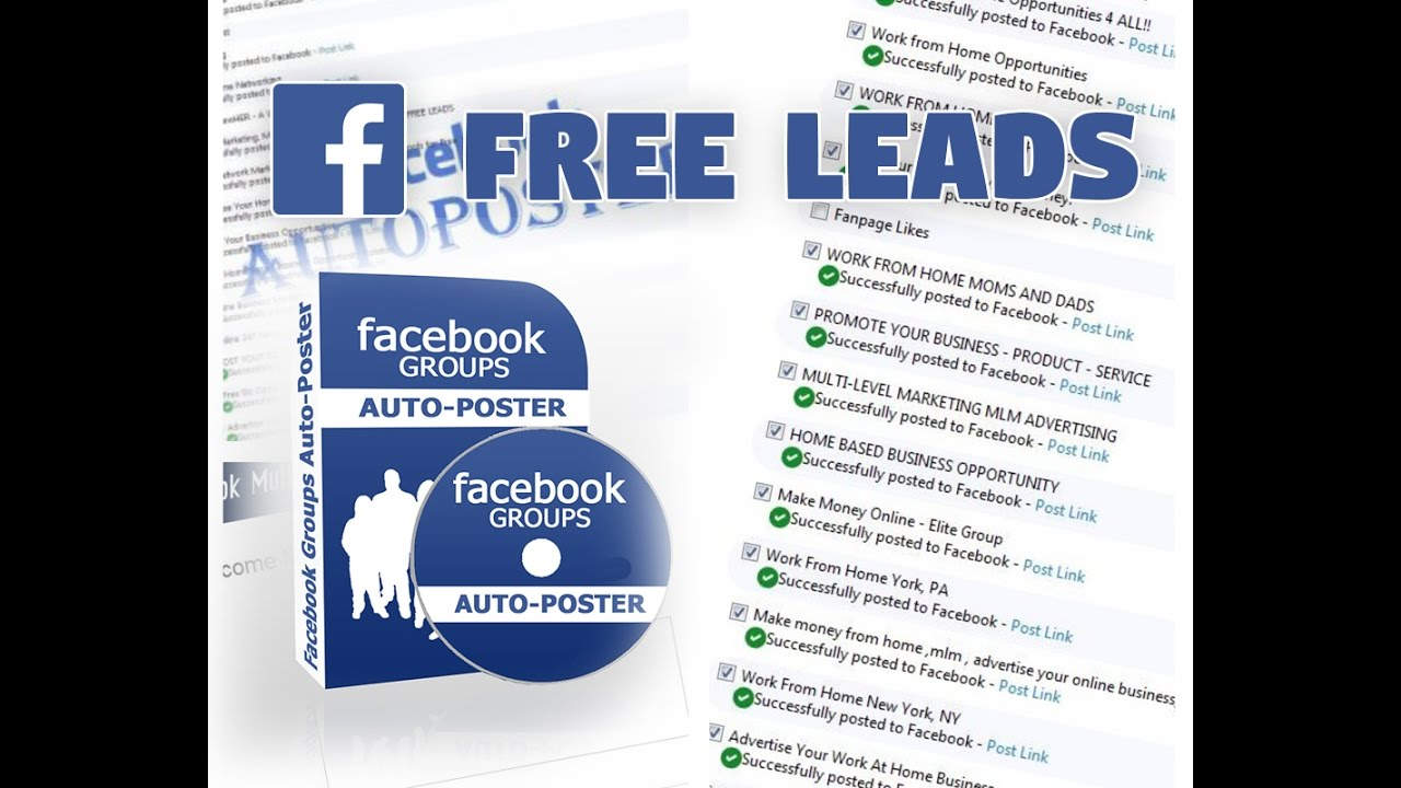 FREE LEADS!!! How to Schedule Facebook Posts in over 2,000 Groups on ...