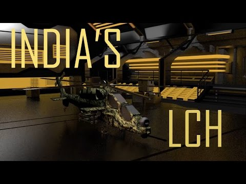 India's LCH (Light Combat Helicopter) in 3D