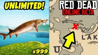 *NEW* SECRET LOCATION TO MAKE FAST MONEY in Red Dead Online! Fish Glitch & Easy Money Tips in RDR2!