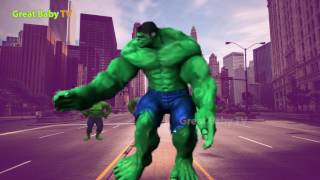 Learn Colors With HULK Dancing Song for Children - Learn Colors for Kid