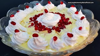 fruit custard in hindi