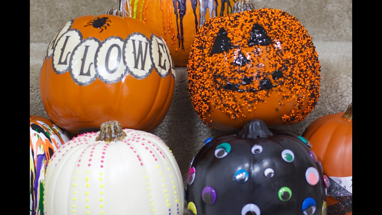DIY Pumpkin Decorating Ideas Part 2 - YouTube