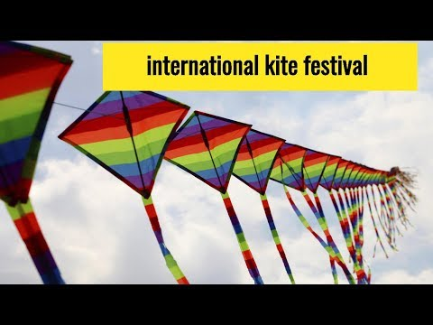 Ahmadabad international Kite Festival 2017 | Glimpse Of Gujarat Riverfront  India