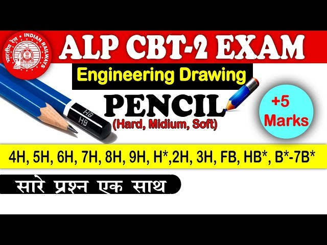 Engineering Drawing : Pencil - theory and important Questions in Hindi | Railway CBT2 exam