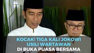 Kocak! Tiga Kali Jokowi Usili Wartawan di Buka Puasa Bersama