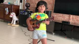 Sweet Child O' Mine by Guns N' Roses - A tribute to Axl Rose by 4 year old Rockstar Zeke Izyk
