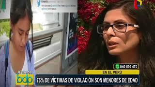 Perú: 76% de víctimas de violación son menores de edad