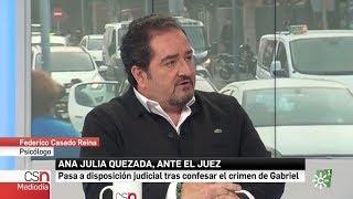 Federico Casado Reina como Psicólogo en Canal Sur Noticias - 14/03/2018