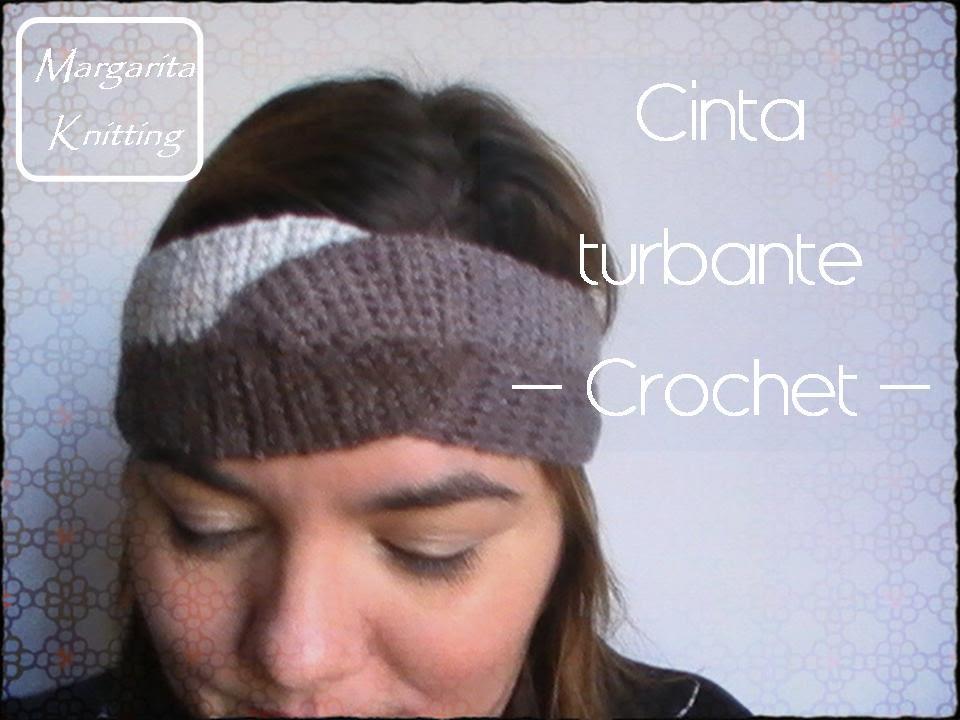 Como tejer una cinta turbante a crochet, PASO A PASO (diestro) - YouTube