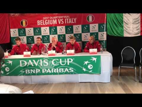 Belgium-Italy, QF Davis Cup 2017: Belgium press conference