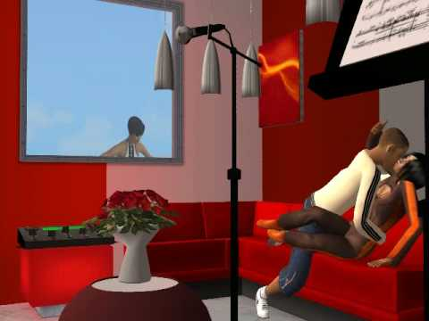 The Sims 2 - Chris Brown Hits Rihanna