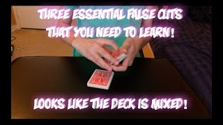 3 Essential False Cuts For Any Magician! Sleight Of Hand Tutorial!