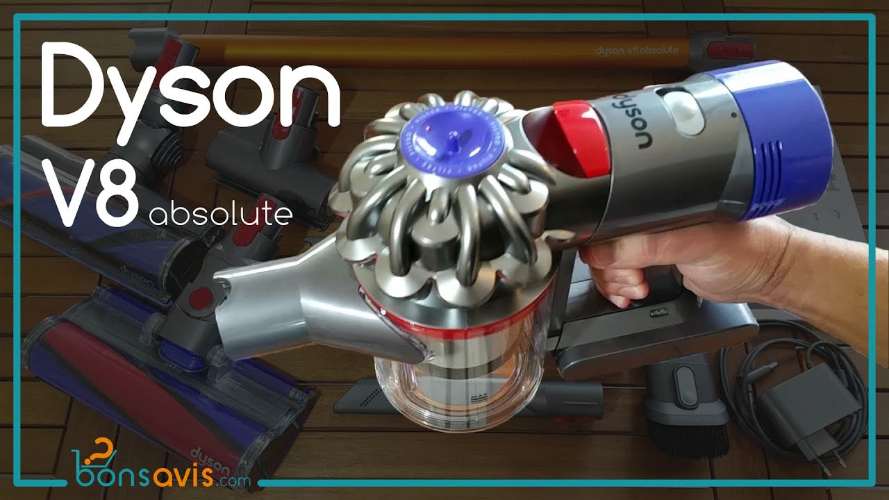 dyson v8 absolute presentation aspirateur balai sans fil cord free vacuum youtube. Black Bedroom Furniture Sets. Home Design Ideas