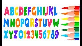 Alfabeto Números Cores para crianças - Colorir Alfabeto e Números