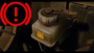 видео Как долить тормозную жидкость