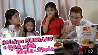 Chicken Mukbang + Q&A   Melason Family Vlog