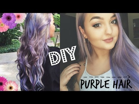 DIY HOW TO: PASTEL LAVENDER PINK SILVER HAIR!