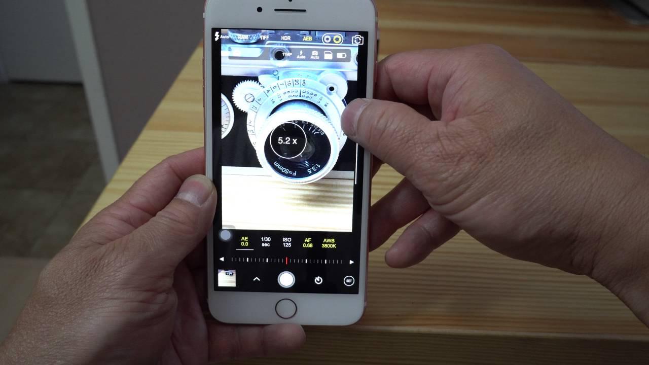 Cách chụp RAW (DNG) trên iPhone 7 Plus