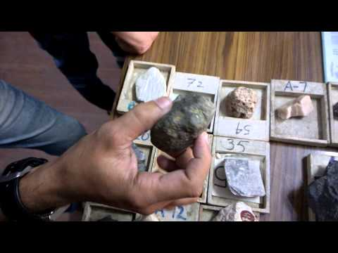ENGINEERING GEOLOGY VIDEO LECTURE ON : IDENTIFICATION OF ROCKS & MINERALS 1