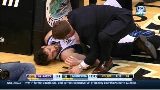 Kevin Love takes hard fall vs Lakers