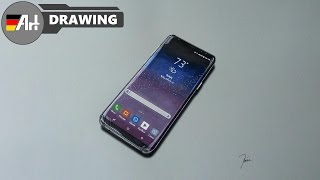 How I draw a Samsung Galaxy S8 - speed drawing
