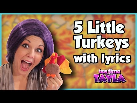 Thanksgiving Songs for Children  Five Little Turkeys  Kids Songs with Lyrics
