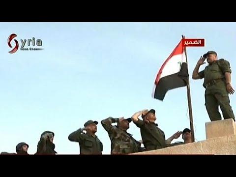 شاهد: القوات الحكومية ترفع العلم السوري في بلدة الضمير بريف دمشق  - نشر قبل 12 ساعة