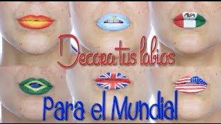 Video Banderas para el mundial en los labios, Lip Art | Silvia Quiros download MP3, 3GP, MP4, WEBM, AVI, FLV Juli 2018