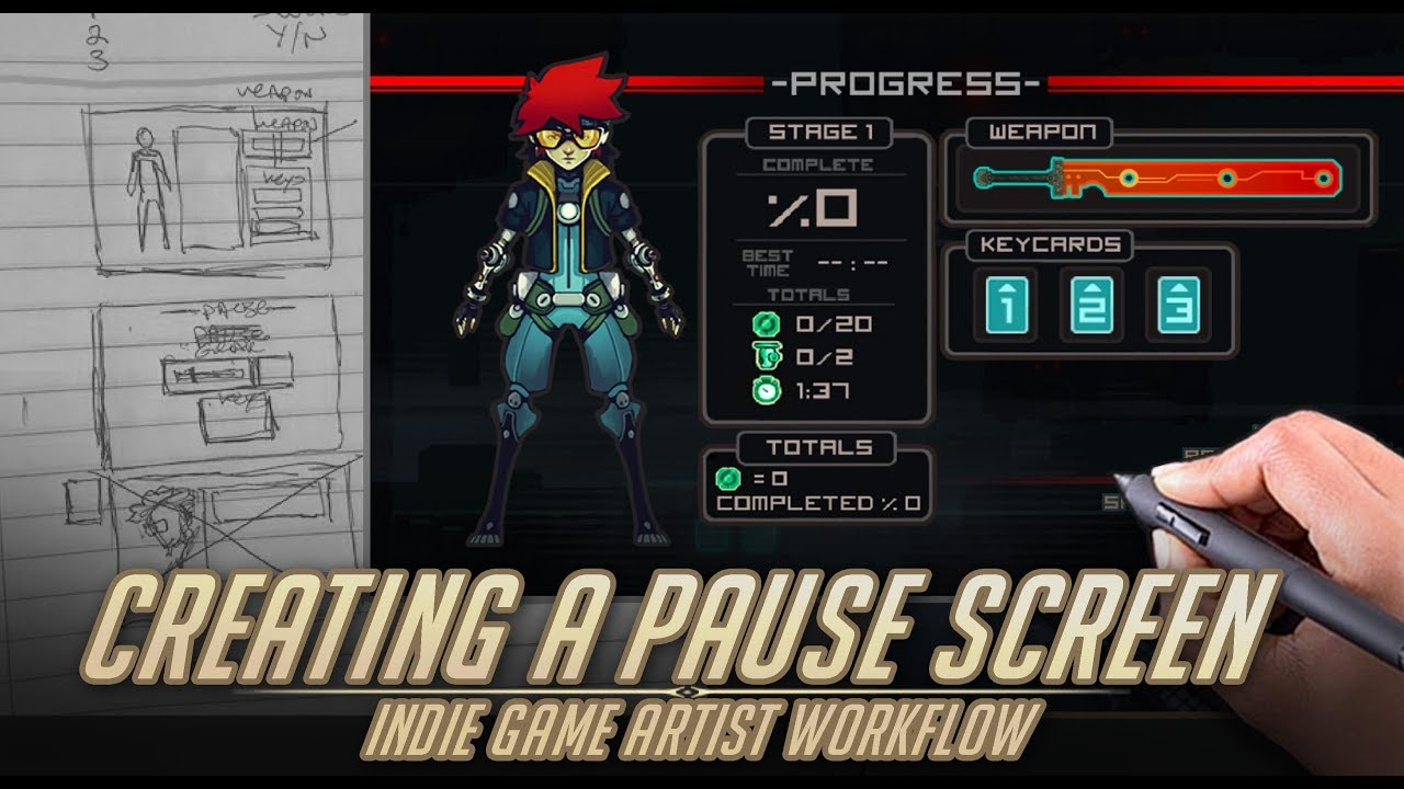 How I Create A Pause Screen Game Artist Ui Workflow