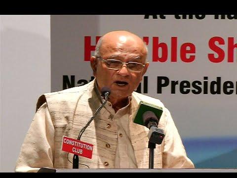 Gandhian activist Natwar Thakkar awarded for his work in Nagaland