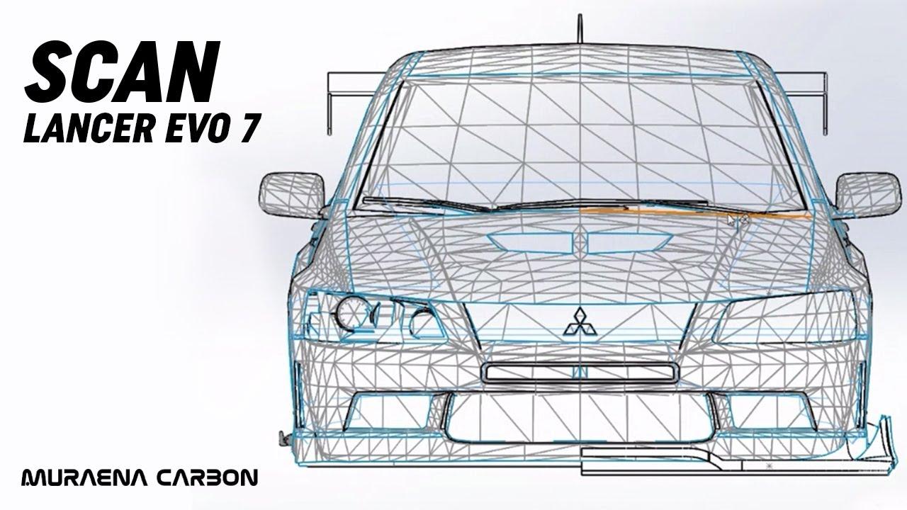 Vytváříme bodykit na model EVA! | Hotový scan! | Evo Upgrade #2 by Muraena carbon