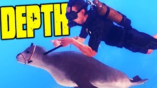 Depth - MY TAMED PET SEAL OUT SWIMS EVERY SHARK! - (Depth Gameplay)