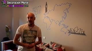 MURAL DECORATIVO MAPA MUNDI EN VALLADOLID