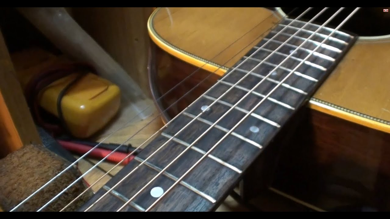 Sigma DR 28H Fretboard Facelift And Extremely Close Look Elixir String Wear