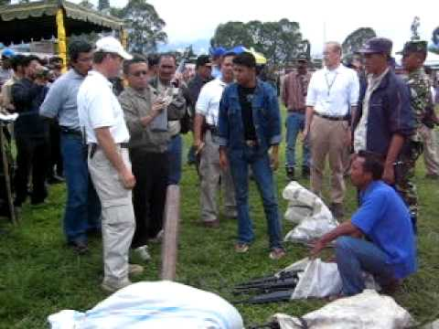 Weapons Decommissioning in Aceh